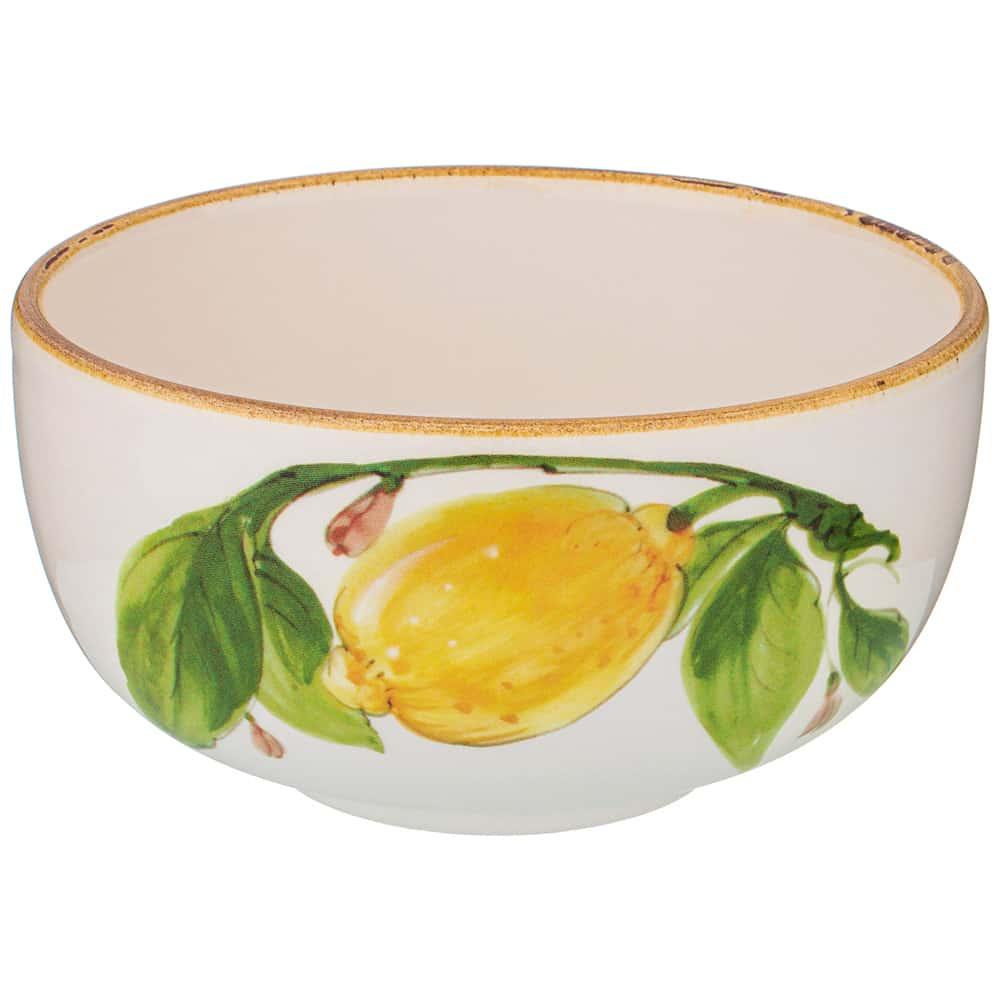 Салатник 14,5 см высота 7,5 см Итальянские лимоны LCS без упаковки