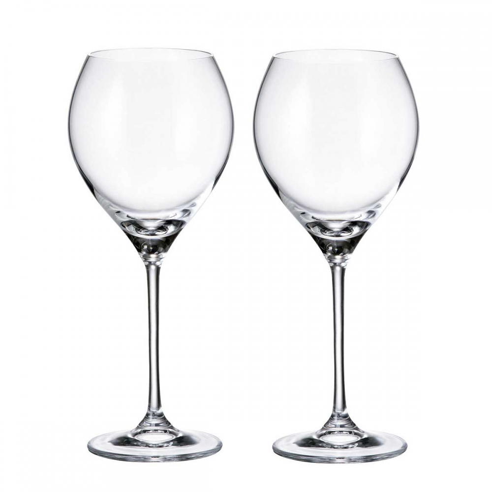 Набор бокалов для вина Crystalite Bohemia Carduelis/Cecilia 470 мл (2 шт)