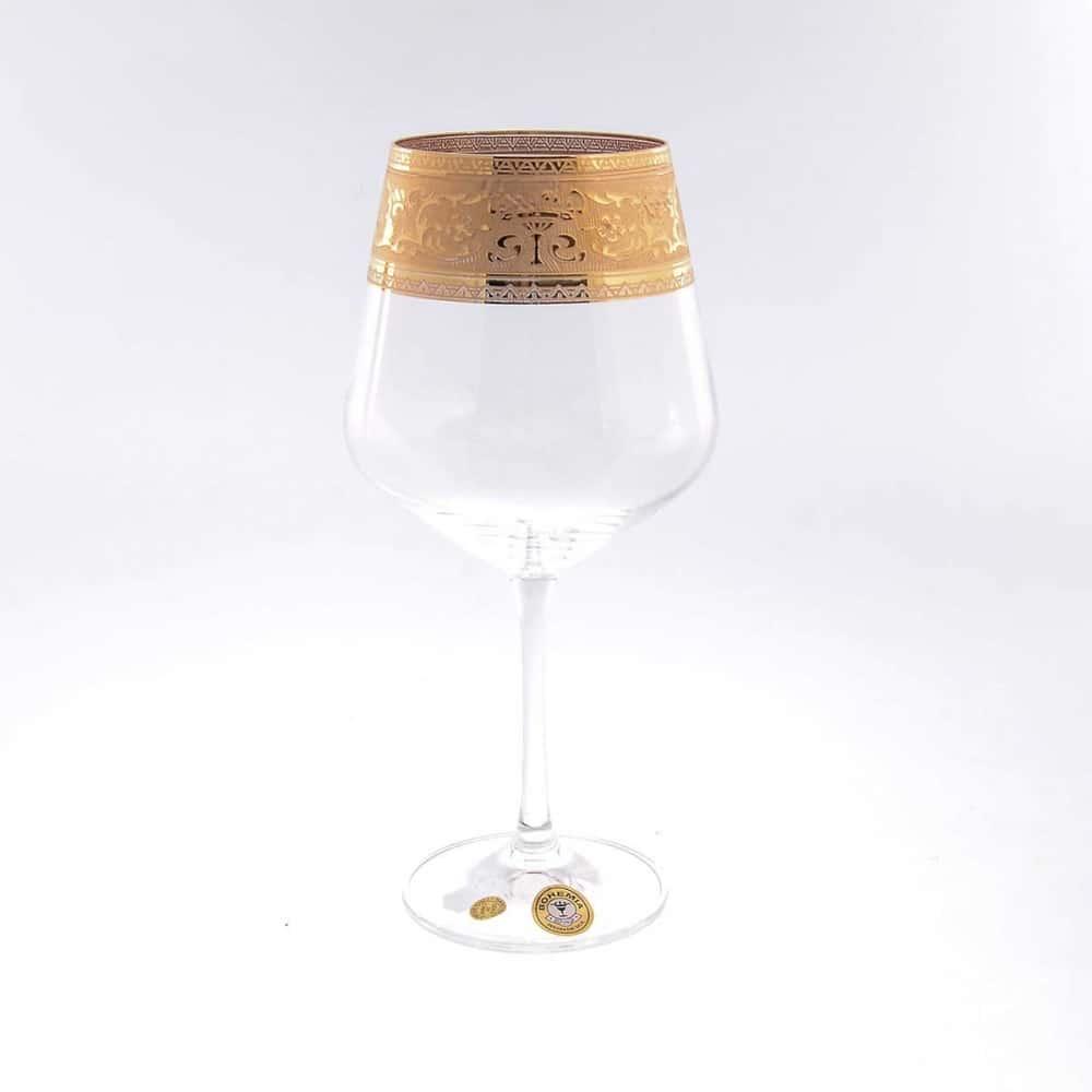 Набор бокалов для вина Crystalite Bohemia Смальта 570мл (6 шт)