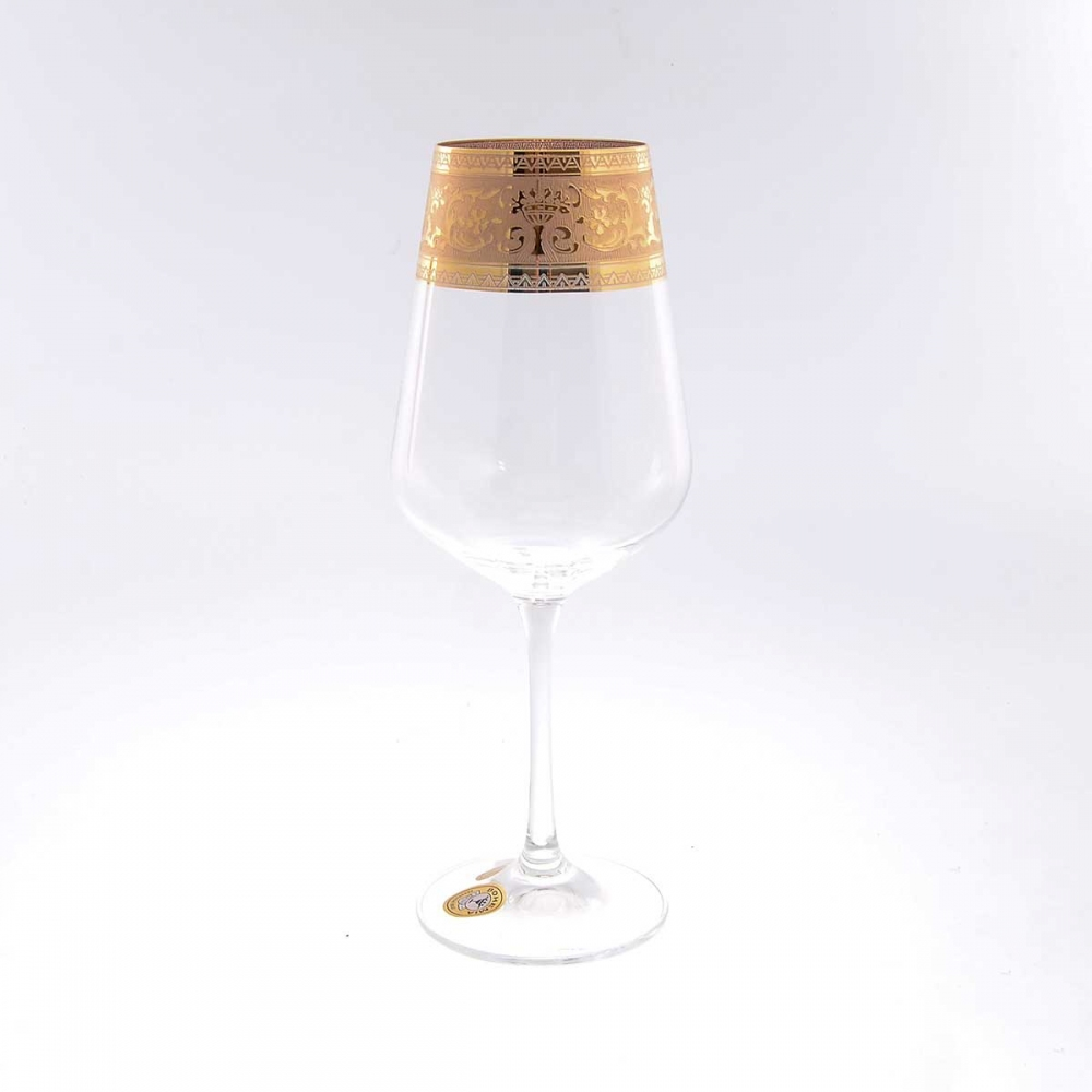 Набор бокалов для вина Crystalite Bohemia Смальта 450мл (6 шт)