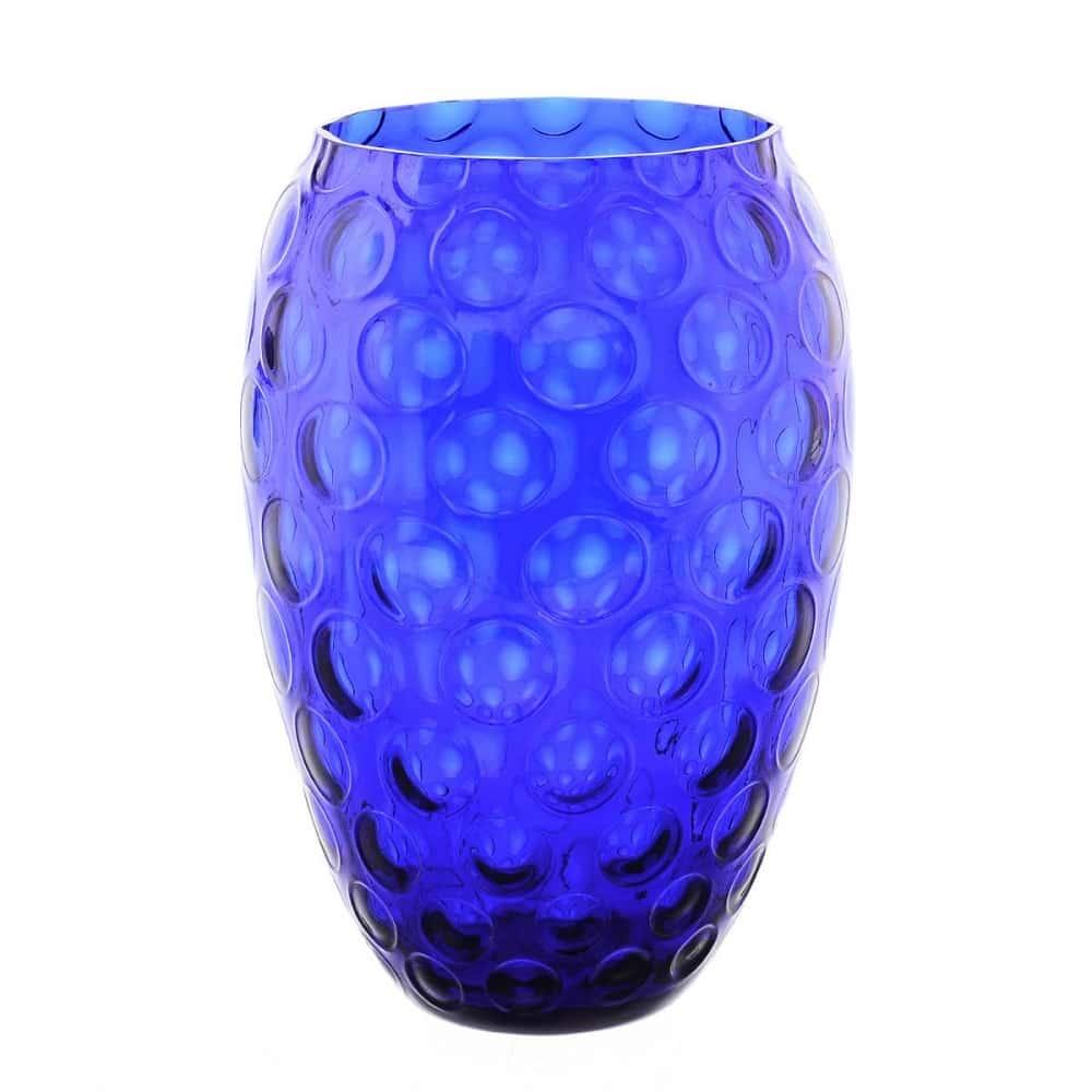 Ваза для цветов Egermann 20см синяя
