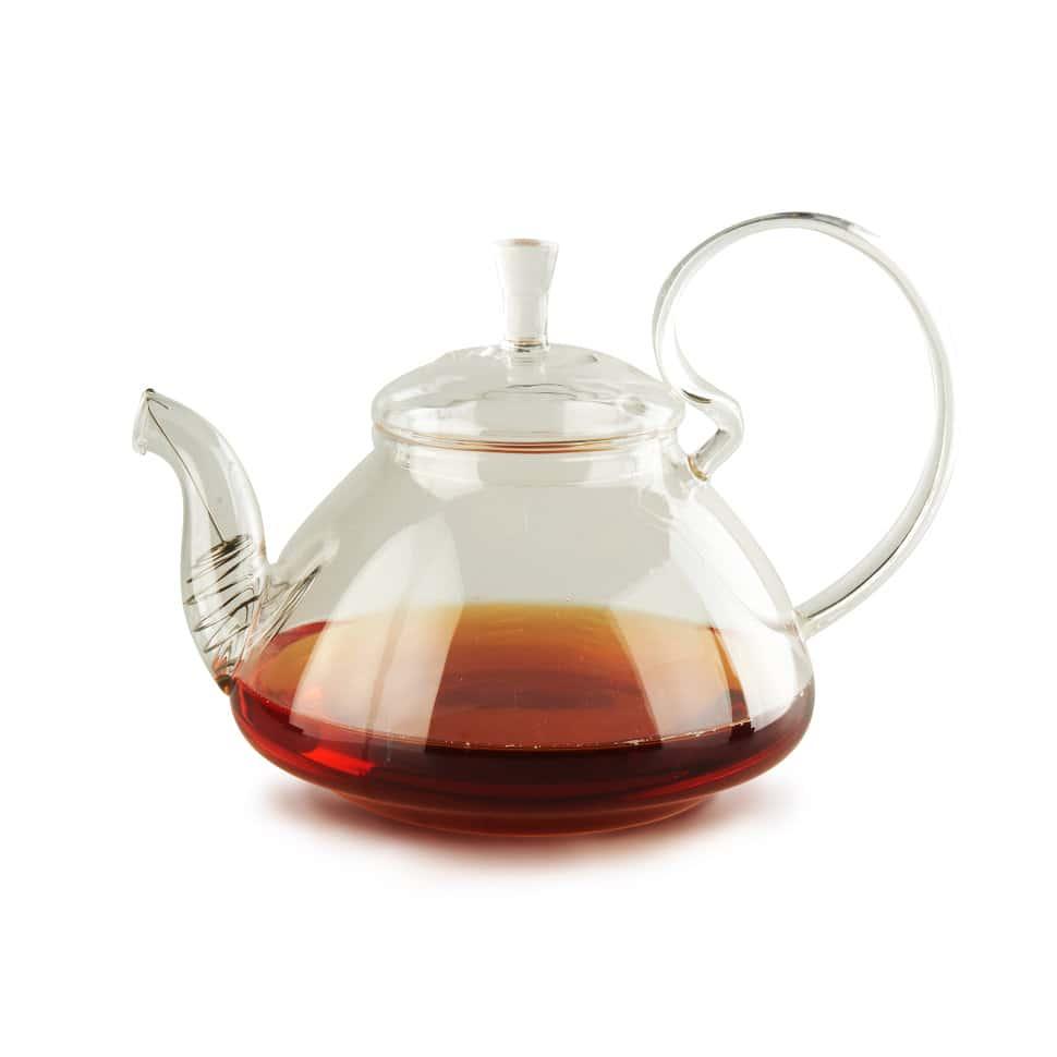 Чайник из жаропрочного стекла 1200 мл Клюква Слон