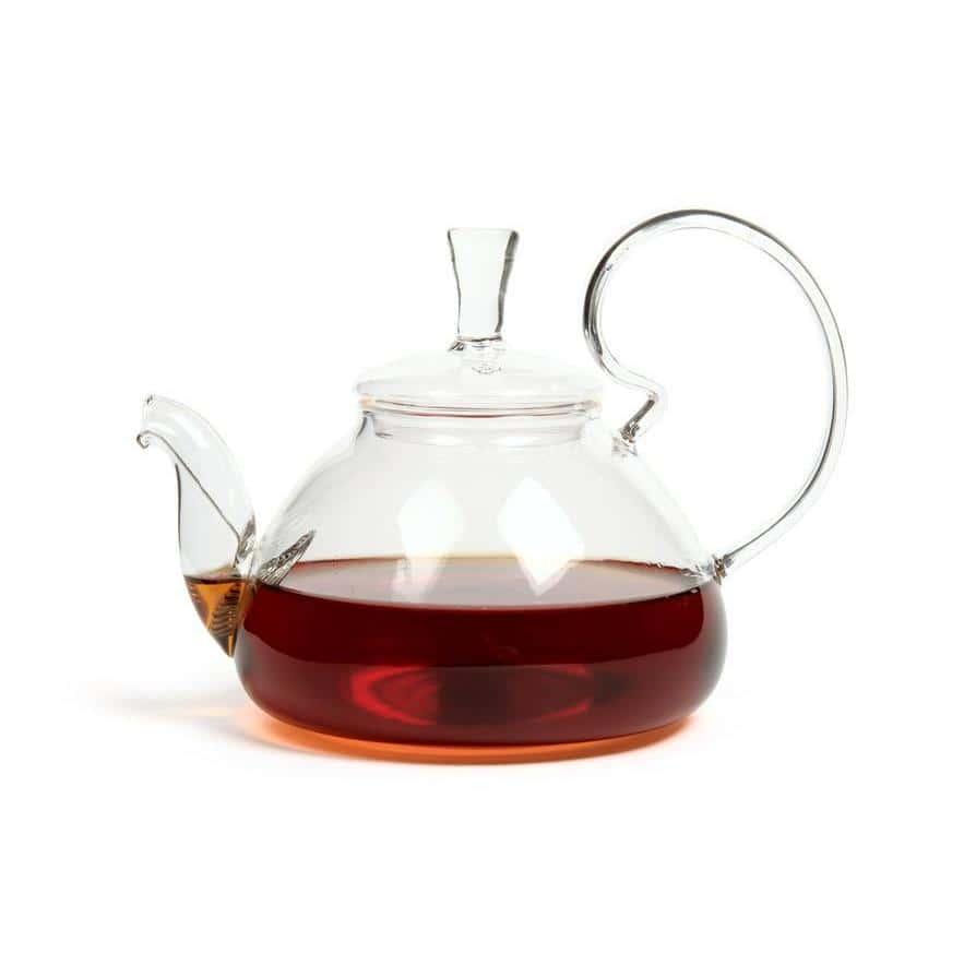 Чайник из жаропрочного стекла 600 мл Клюква Слон