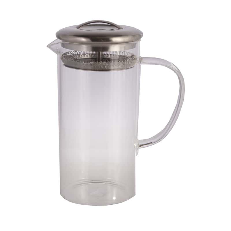 Чайник из жаропрочного стекла 750 мл Ямайка Слон с металлическим фильтром