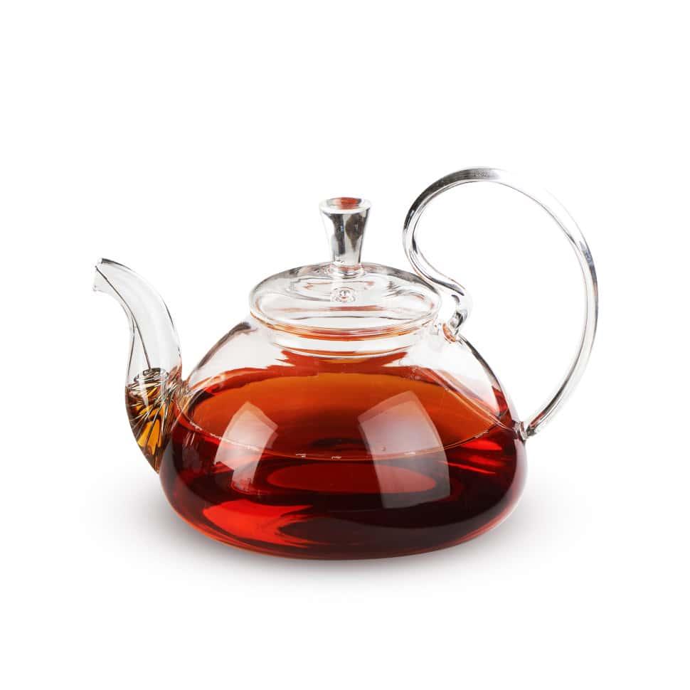 Чайник из жаропрочного стекла 800 мл Клюква Слон