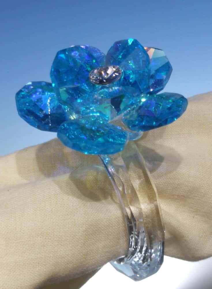 Кольцо для салфетки Синий Nuria Grau