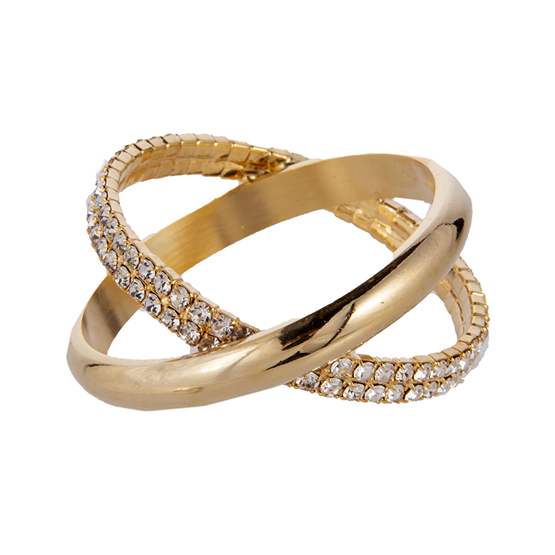 Салфетница-кольцо 5см. зол. камни Claret