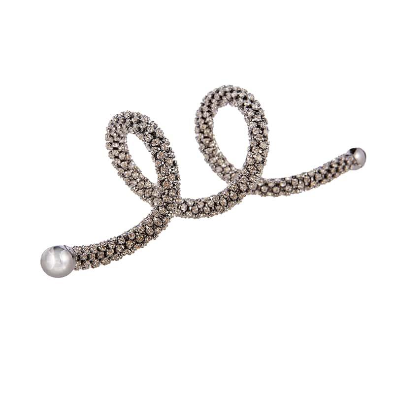 Салфетница-кольцо спираль 12см сереб. Claret