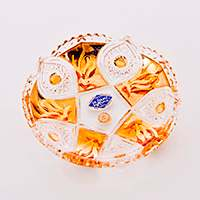 Розетка Хрусталь с золотом Jahami Bohemia 12 см