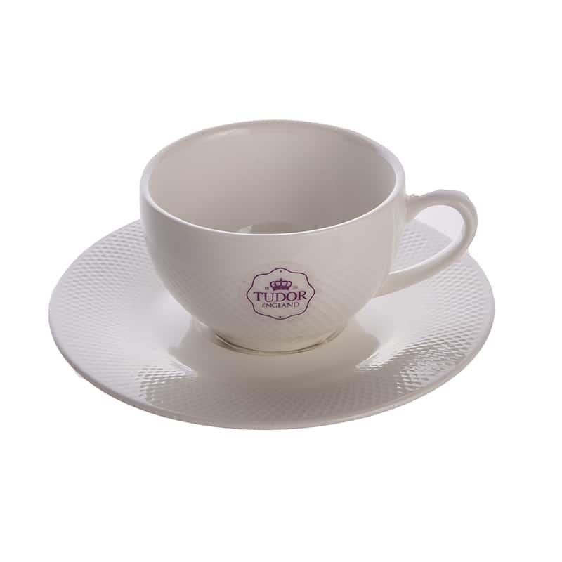 Кофейная пара (чашка+блюдце) 90 мл./в коробке