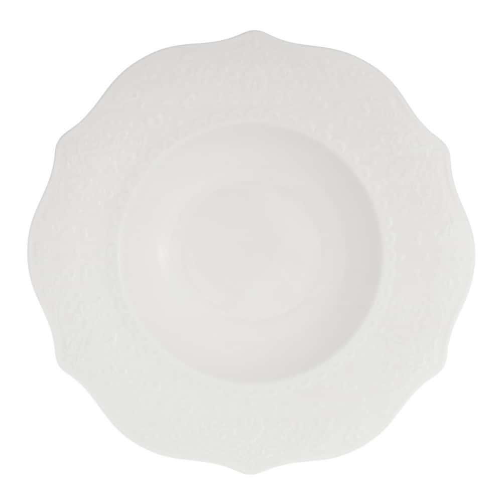 Тарелка глубокая 22 см. Tudor с ажур. краями