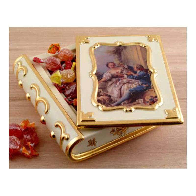 BAROQUE Шкатулка книга 42х21хН7 см, керамика, цвет кремовый, декор золото