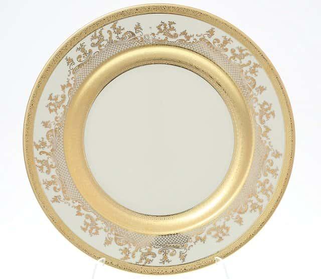 Блюдо круглое Falkenporzellan Royal Gold Cream 30 см