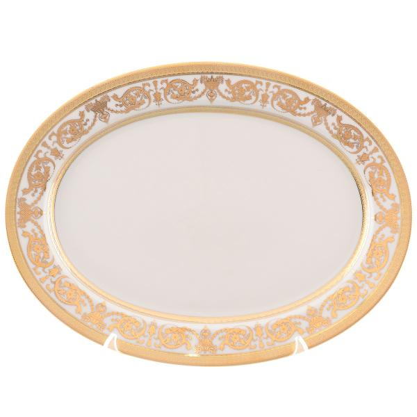 Блюдо овальное Falkenporzellan Imperial Cream Gold 36 см