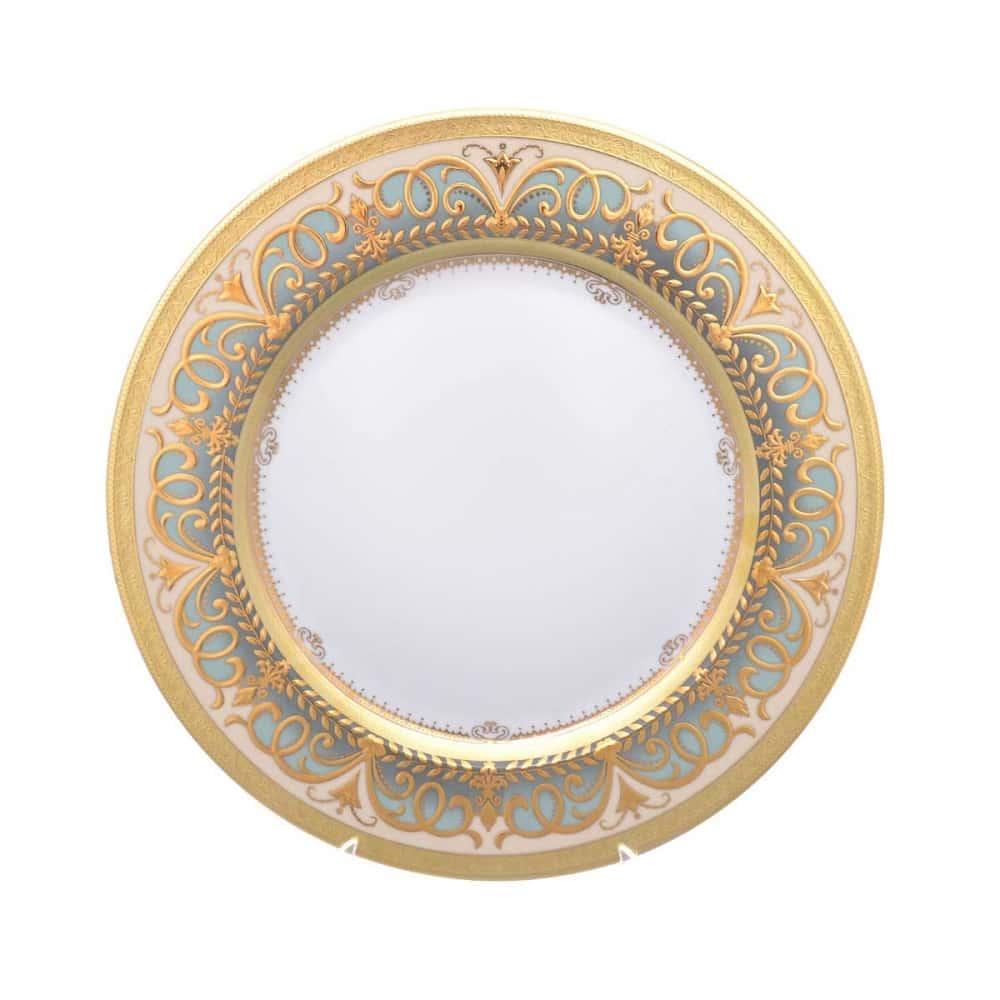 Блюдо круглое Arabesque Seladon Gold 32 см Falkenporzellan
