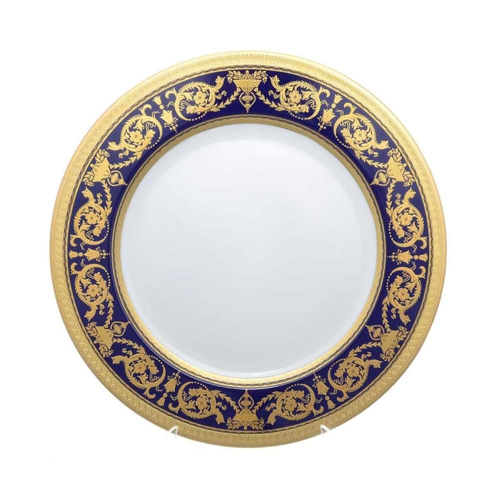 Блюдо круглое Falkenporzellan Imperial Cobalt Gold 32 см