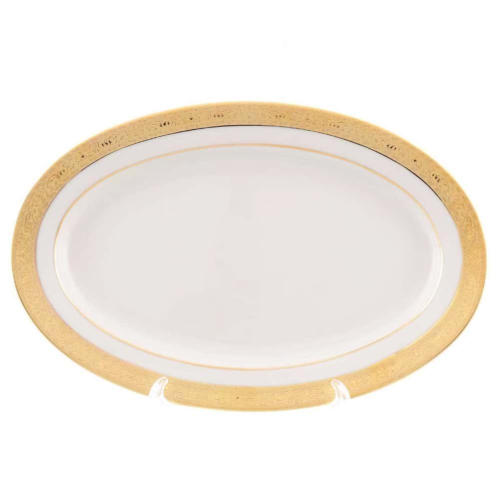 Блюдо овальное Falkenporzellan Cream Gold 24 см