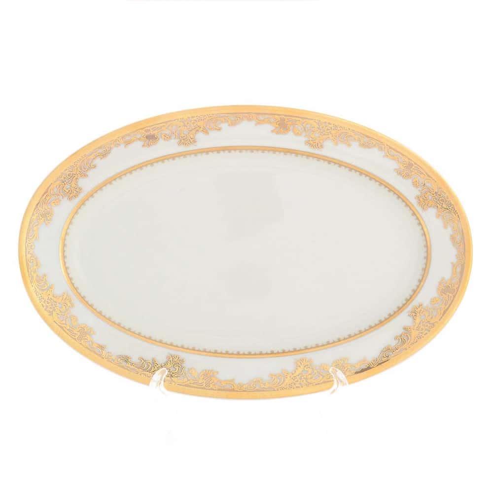 Блюдо овальное Falkenporzellan Cream Gold 24 см 31152