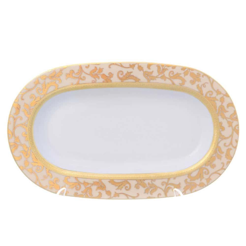 Блюдо овальное Falkenporzellan Tosca Creme Gold 24 см