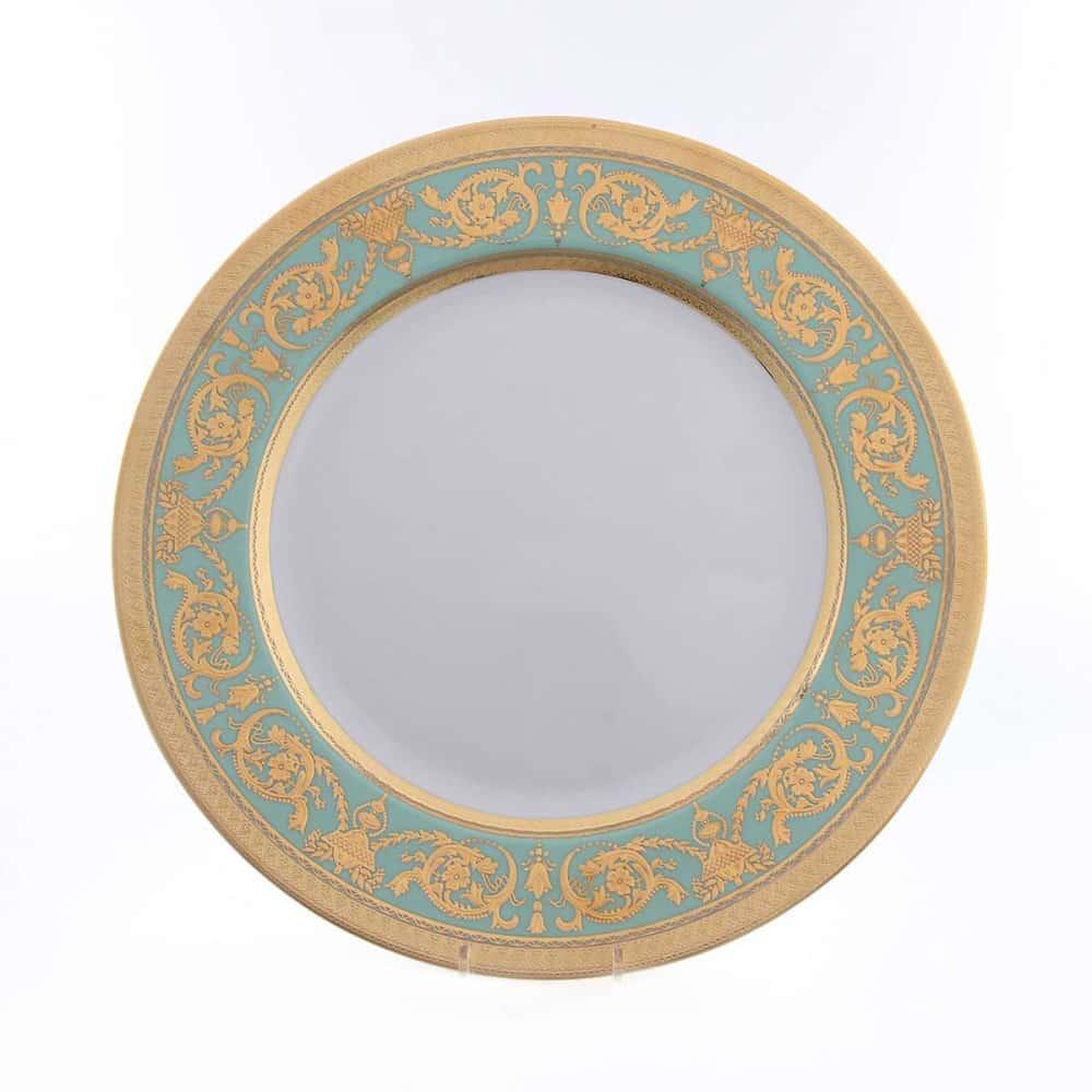Блюдо круглое Falkenporzellan Imperia Seladon Gold 32 см