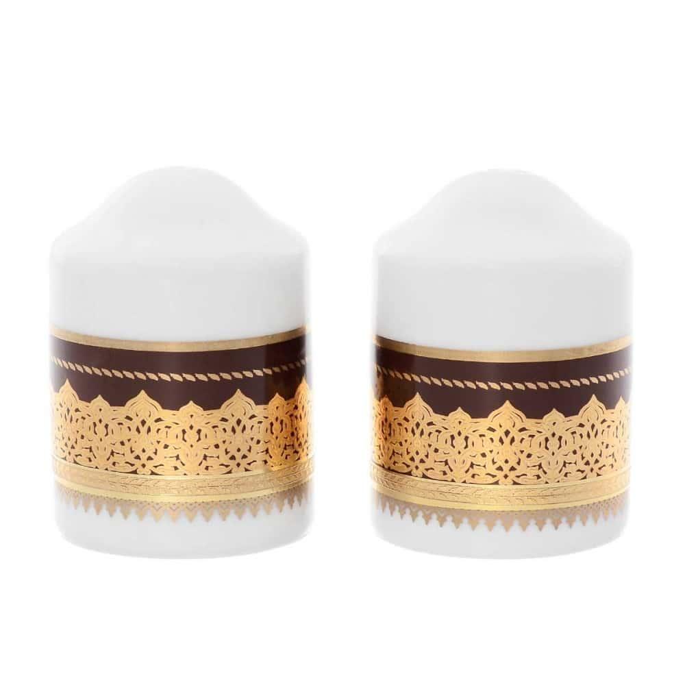 Солонка/Перечница Falkenporzellan Agadir Brown Gold (2 шт)