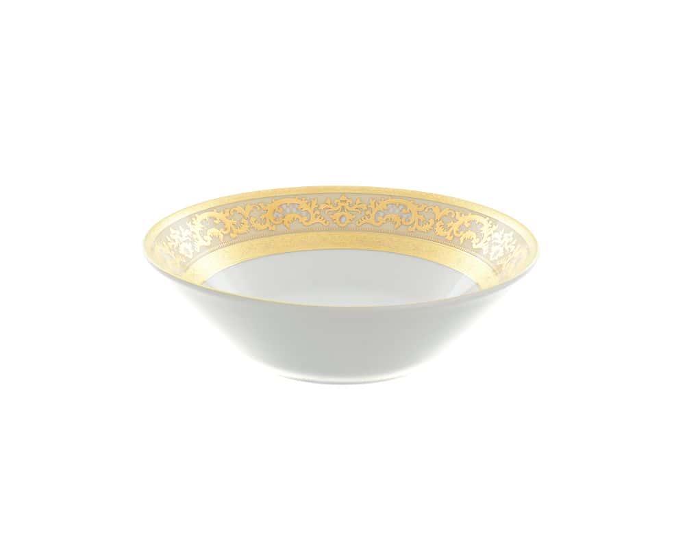 Салатник Falkenporzellan Alena 3D Creme Gold Constanza 23 см