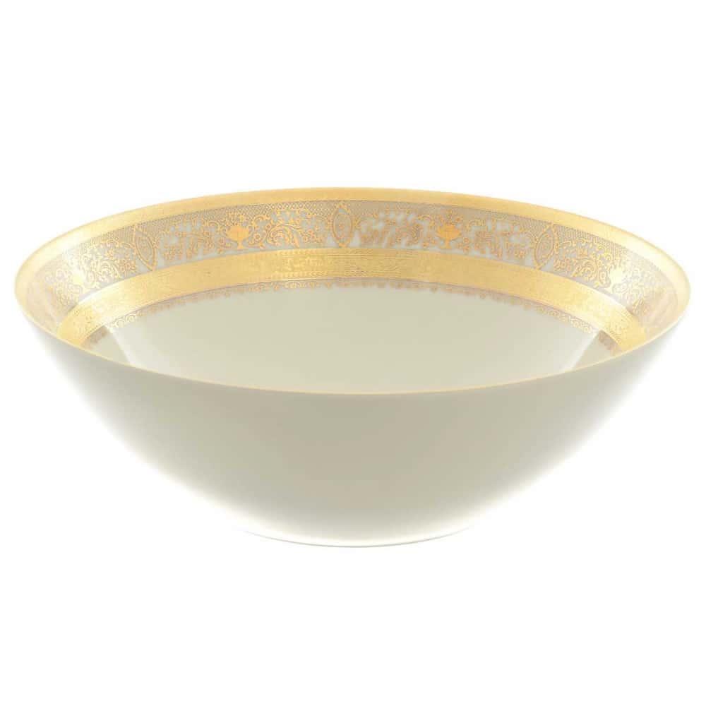 Салатник Falkenporzellan Majestic Cream Gold 23см