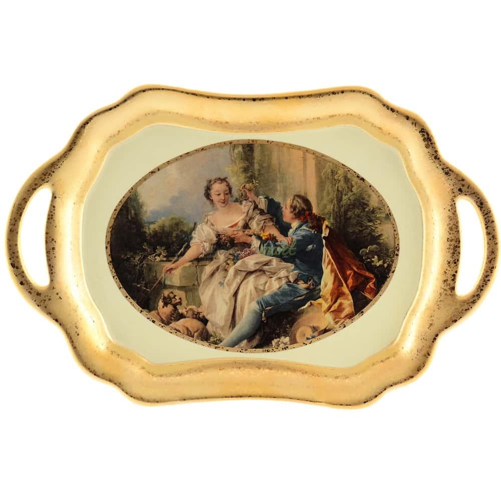Блюдо с ручками Bruno Costenaro Boucher Ceramiche 38.5*255*6см