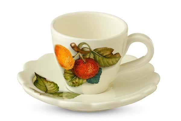 Набор кофейных пар 6 чашек + 6 блюдец 12 предметов NUOVA CER Груша 90мл