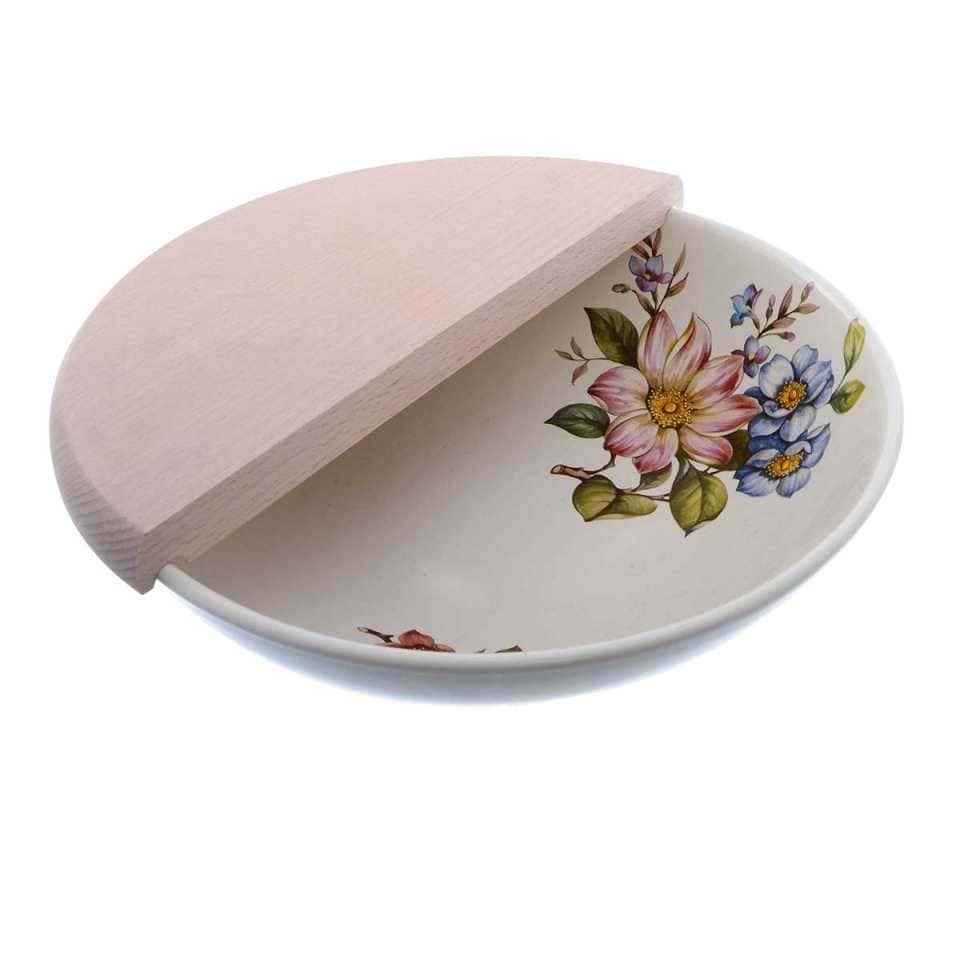 Набор салатник с разделочной доской 2 предмета NUOVA CER Лепестки Весны