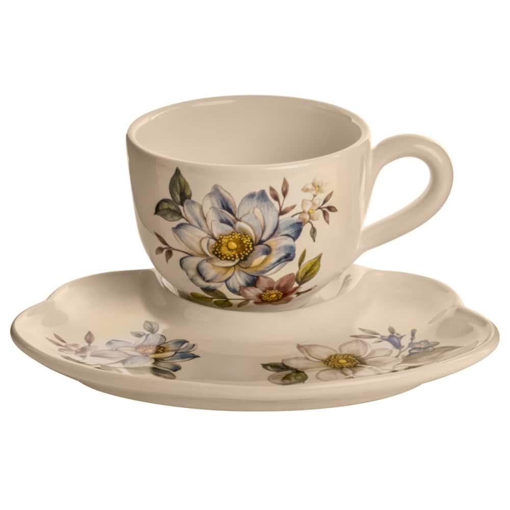 Набор чашка с блюдцем NUOVA CER Лепестки Весны