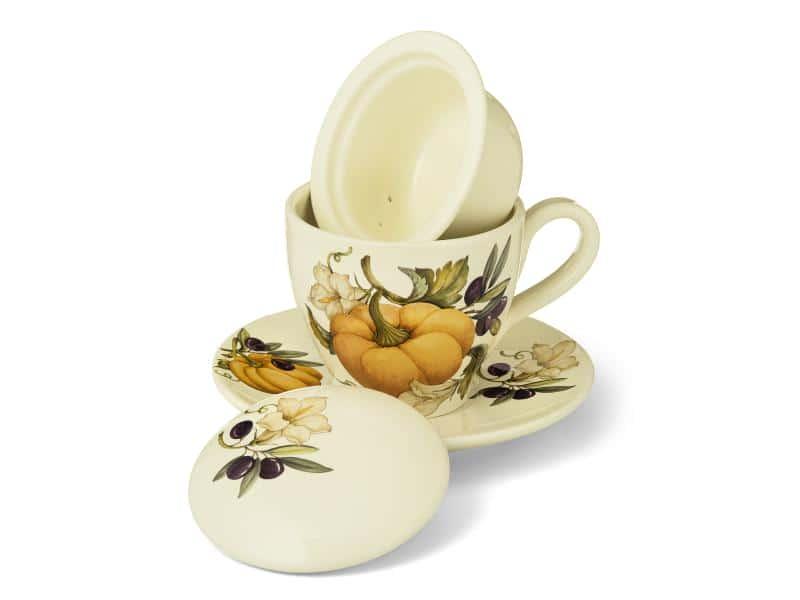 Набор чашка с блюдцем NUOVA CER Тыква