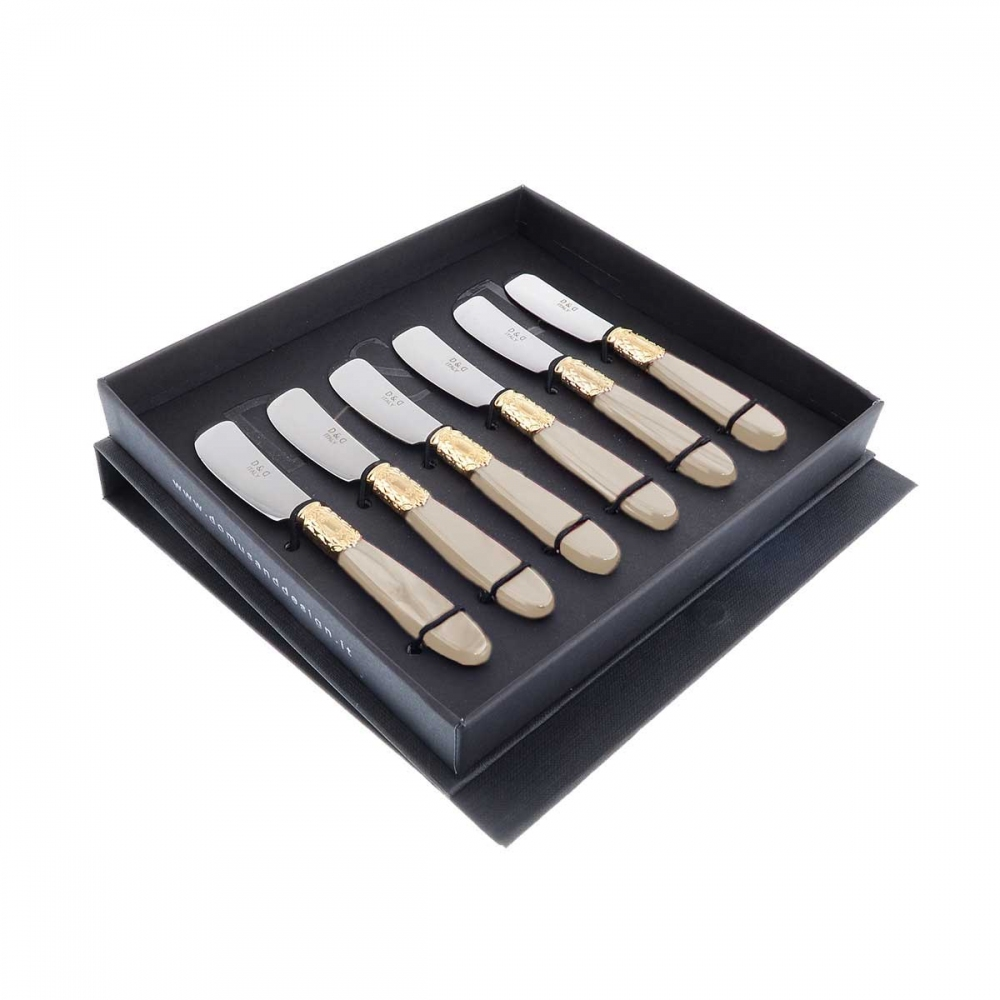 Набор ножей для масла Domus Victoria gold (6 шт)