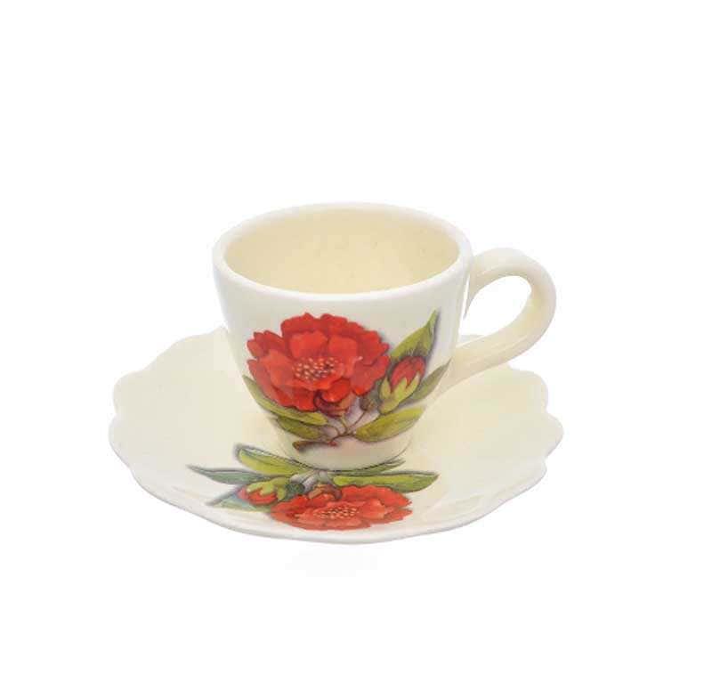 Чашка с блюдцем Nuova Cer Гранат 250мл