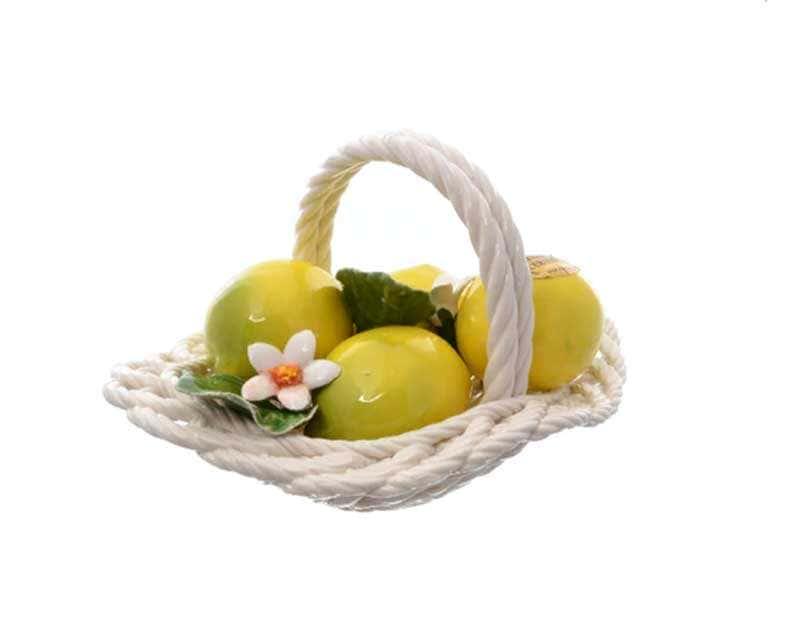Корзина декоративная овальная Orgia с лимонами 20 см