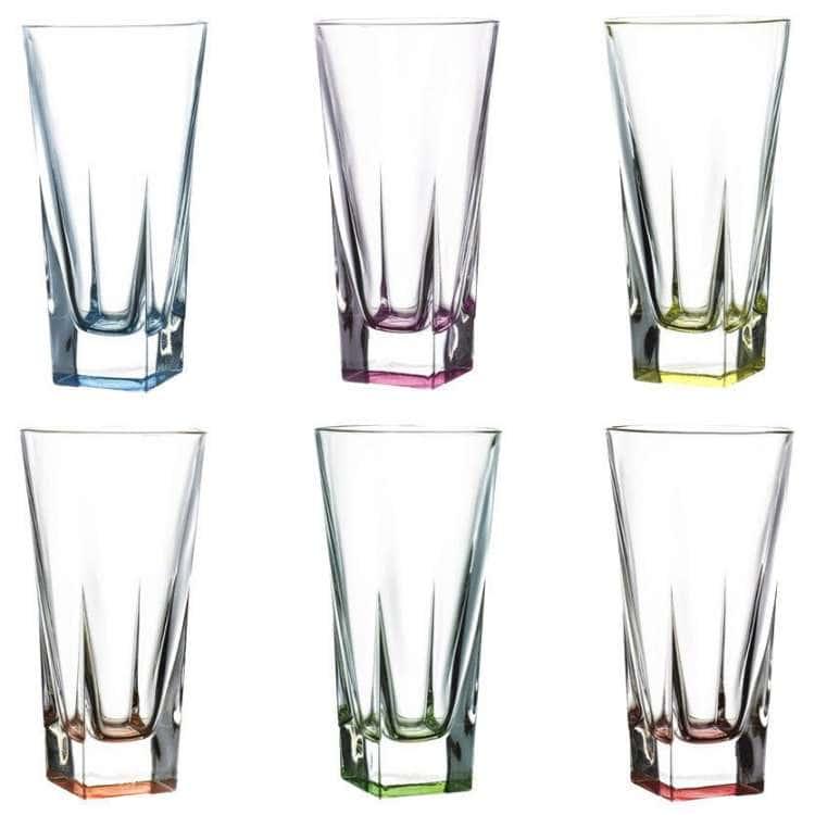 Набор стаканов для воды Fusion Цветные 380мл RCR Cristalleria Italiana 44223