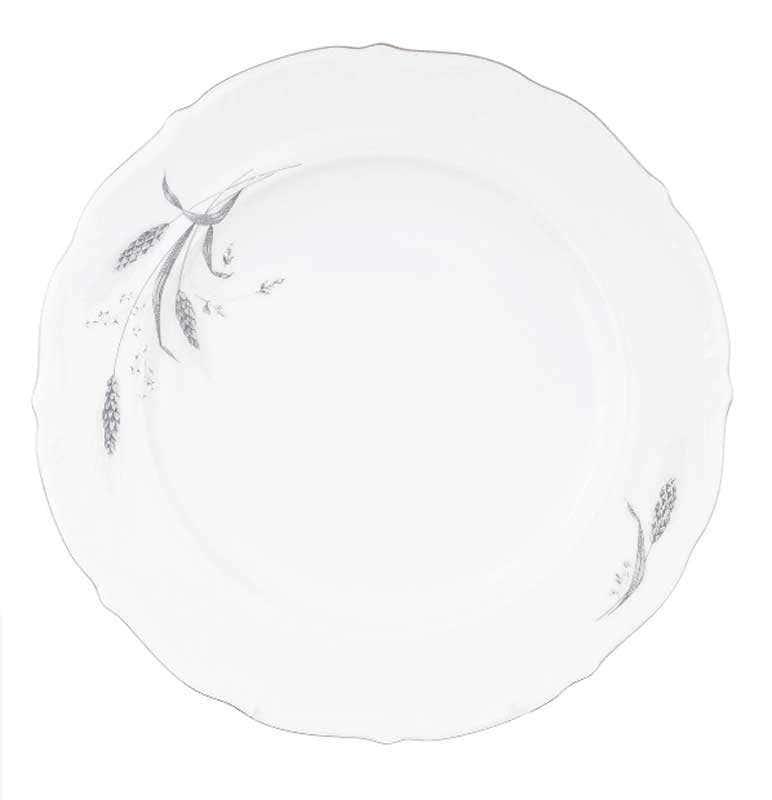 Блюдо круглое Repast Серебряные колосья 32 см
