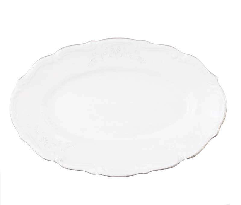 Блюдо овальное плоское Repast Свадебный узор 22 см
