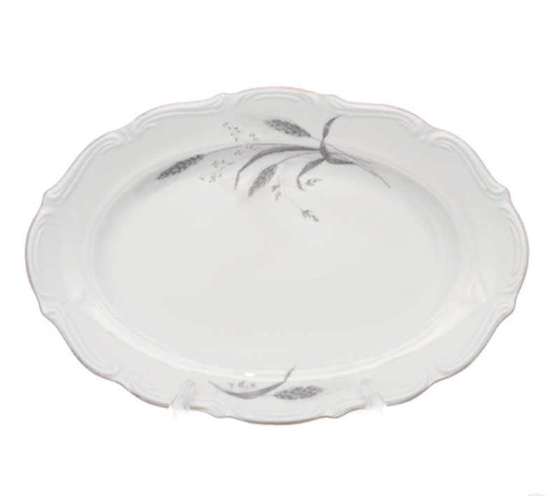 Блюдо овальное Repast Серебряные колосья 33 см