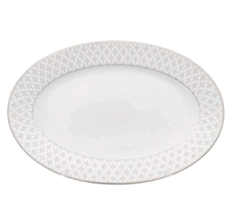 Блюдо овальное плоское Repast Жемчуг 22 см
