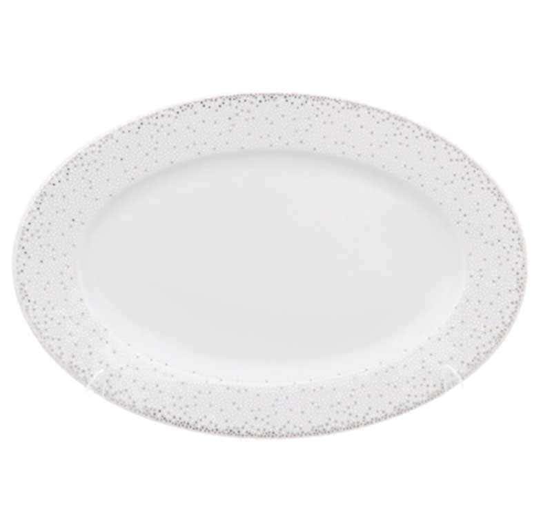 Блюдо овальное плоское Repast Серебрянная сетка 22 см