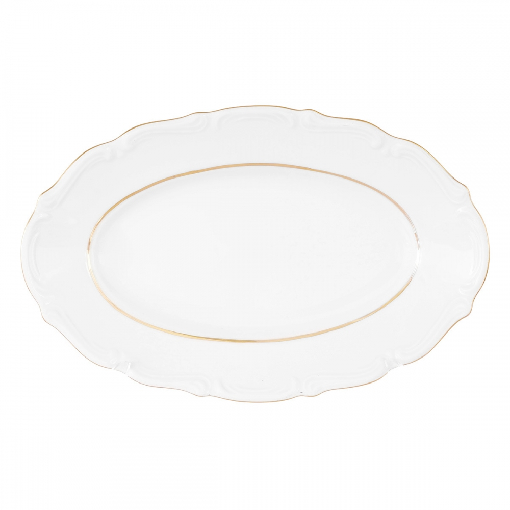 Тарелка овальная плоская 22 см Repast Классика
