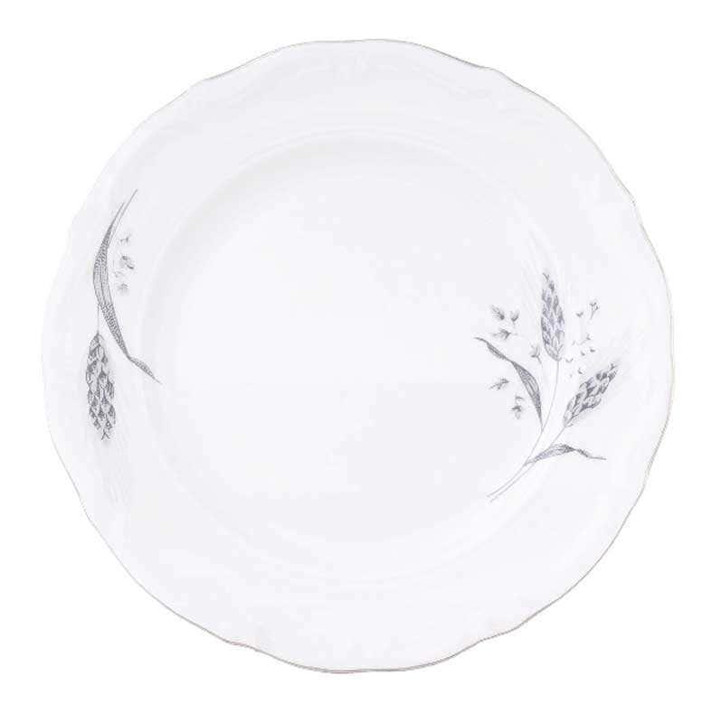 Набор плоских тарелок Repast Серебряные колосья 19 см