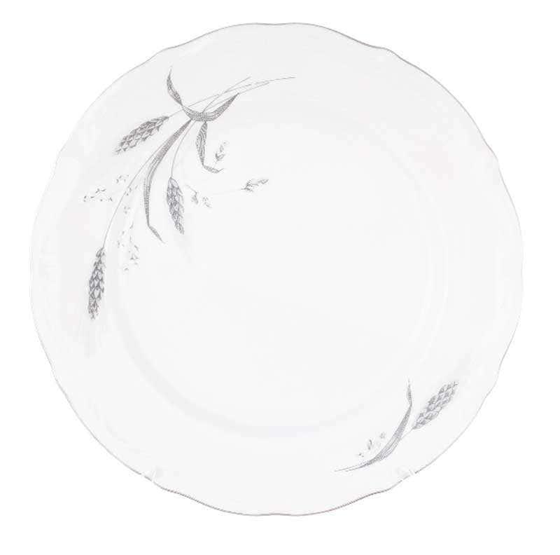 Набор плоских тарелок Repast Серебряные колосья 25 см