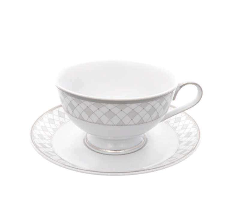 Набор чайных пар Repast Серебрянная сетка 200 мл