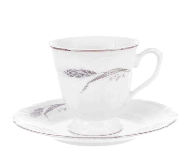 Набор чайных пар Repast Серебряные колосья 200 мл