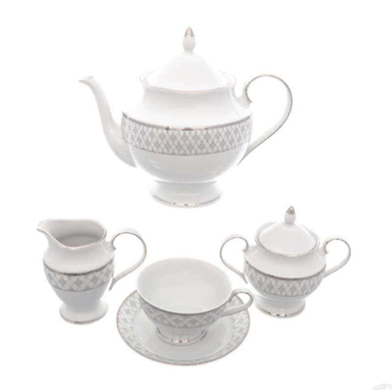 Чайный набор Repast Серебрянная сетка 15 пр
