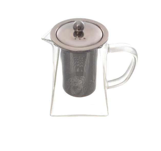 Чайник заварочный Royal Classics с металлической колбой квадратный 600 мл