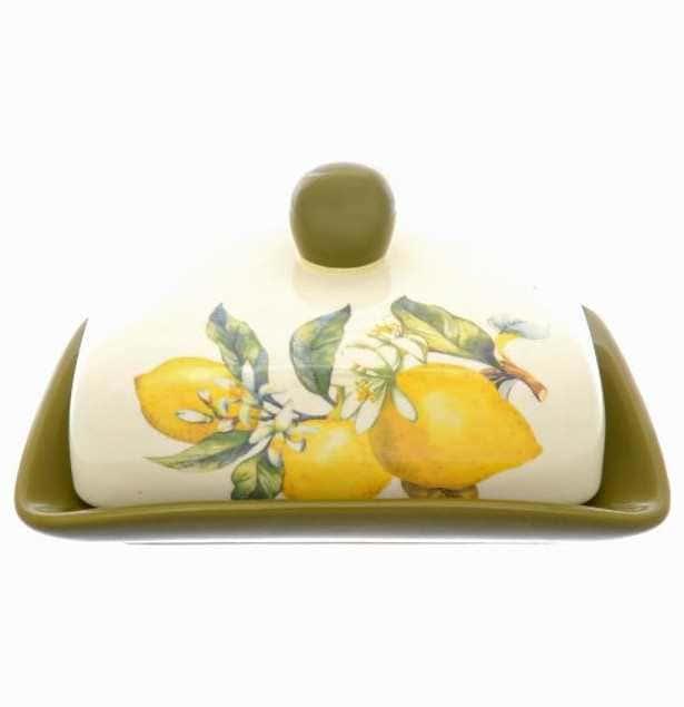 Маслёнка с крышкой Royal Classics Лимоны