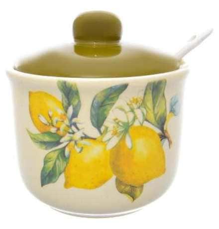 Сахарница с ложкой Royal Classics Лимоны 250 мл